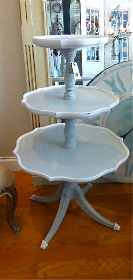 Chic 3 Tier Painted Table