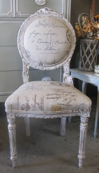 French Calligraphy Chair