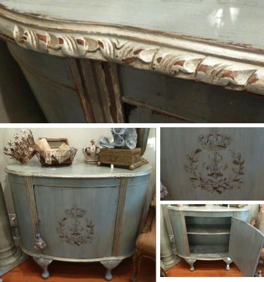 Vintage Demilune Cabinet