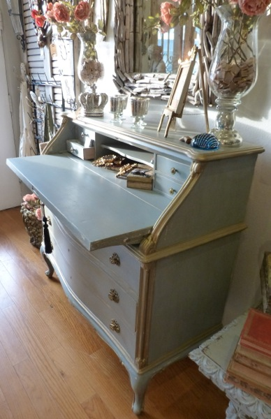 Antique French Secretary Desk Gorgeous Imported Drop Front