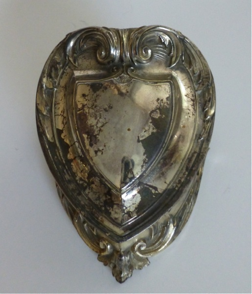 Silver Heart Shaped Jewelry Casket