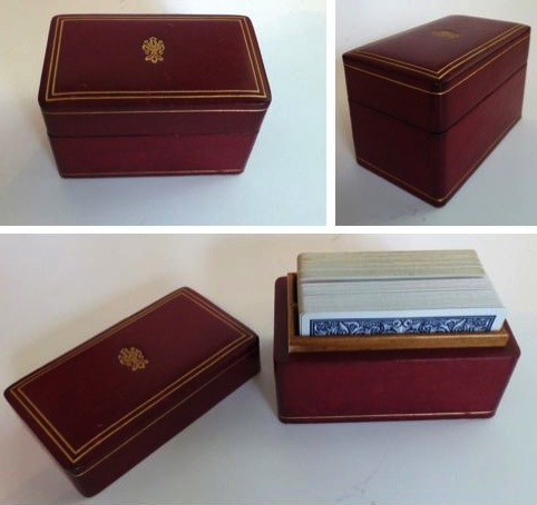 Vintage Playing Card Box Covered Playing Card Box