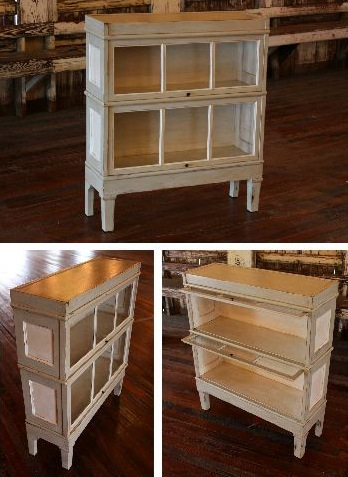 Lawyers Bookcase Painted Gray Amp White