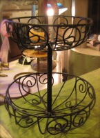 2 Tier Iron Basket
