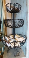 Vintage Iron Three Tier Display