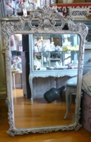Large Antique Painted French Mirror