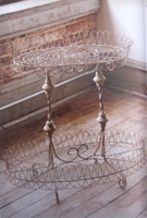 French Wire Two Tier Stand
