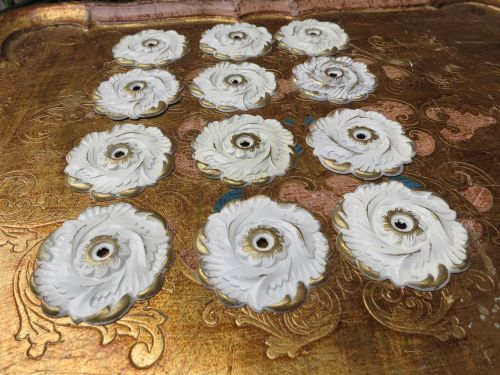 12 Vintage Scrolly Shabby Chic Back Plates