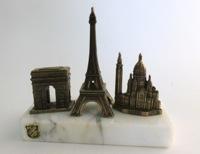 Vintage Paris Landmarks Souvenir