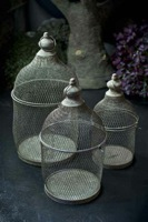 Mesh Ornamental Lidded Birdcage Style Baskets