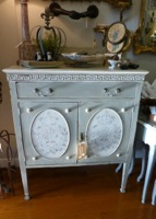 Vintage French Crown Cabinet