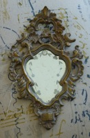 Small Ornate Gold Etched Mirror