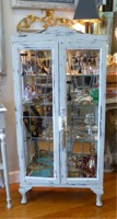 Antique Locking Glass Display Cabinet