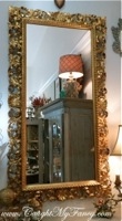 Large Antique Italian Gold Mirror