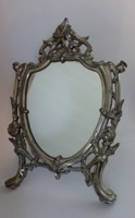 Silver Art Nouveau Table Mirror