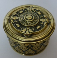 Antique Brass Elastic Bands Box