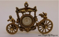 Carriage Shape Clock Brooch