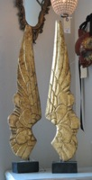 Pair Carved Angel Wings on Stand