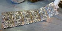 Antique 6 Panel Filigree Silver Bracelet