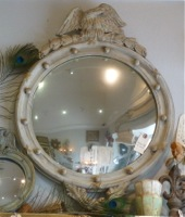 Antique Bullseye Mirror