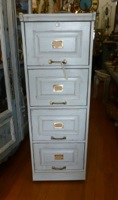 4 Drawer Painted Wood Filing Cabinet