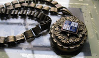 Victorian French Crest Locket & Book Chain