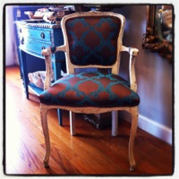 Single French Brocade Arm Chair