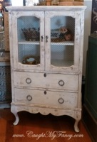 French Wire Front Cabinet