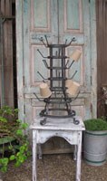Industrial French Bottle Rack