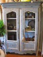 Antique French Painted Bibliotheque