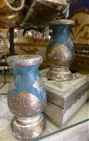 Florentine Blue & Gold Candlesticks