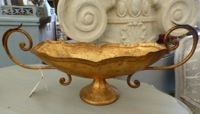 Vintage Gold Italian Handled Bowl