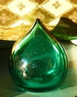 Vintage Blown Glass Teardrop