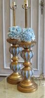 Vintage Florentine Gold & Blue Lamps