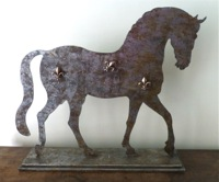 Cheval Horse Magnetic Sign