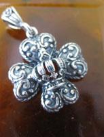 Maltese Cross & Crown Pendant