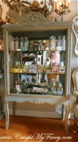 French Mirrored Glass Display Cabinet