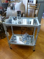 Vintage Mirrored Bar Cart