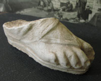 Roman Gladiator Foot Sculpture
