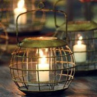 Rustic Iron Ship Captain's Lantern
