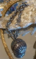 Victorian Perfume Ball Pendant Bracelet