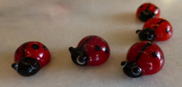 Lucky Glass Ladybugs