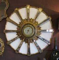 Vintage Italian Starburst Mirrored Barometer
