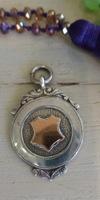 Vintage Sterling & Rose Gold Pendant