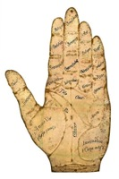 Tin Palmistry Hand Guide