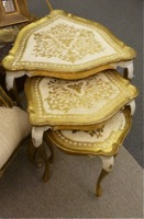 Vintage Florentine Nesting Table Set