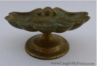 Vintage Brass Shell Soap Dish