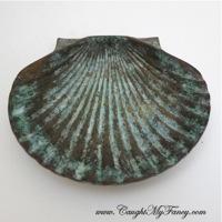 Bronze Clam Shell Dish