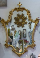Vintage French Gold Mirror