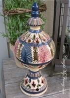 Vintage Italian Porcelain Candle Lantern